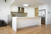 white Vinyl Wrap kitchen cabinet-kapon cabinet