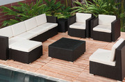 Surabaya -- Outdoor Wicker Corner Lounge Group