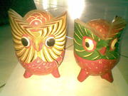 Art handycrafts of Indah creation(Bali)Painting owl statue
