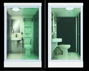 Shower Cabin /Pod with Toilet and Sink Pre-manufactured All-in-One Bat