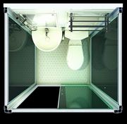 shower cabin pod with toilet and sink pre manufactured all in one bat melbourne home. Black Bedroom Furniture Sets. Home Design Ideas