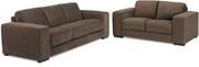 Ebony 2 and 3 Seater Fabric Sofa Set