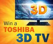 Win a Toshiba 3D TV with OfferX