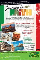 Pilgrimage Tours To Italy - 16 Days @AUS6990