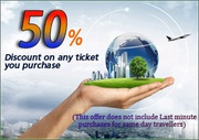 Hurry UP - Travel Discounts for flight Tickets 50%