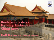 8 Days Holiday Package to China from Australia