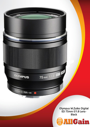 Buy Olympus M.Zuiko Digital ED 75mm f/1.8 Lens-Black