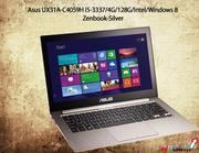 Get Asus UX31A-C4059H i5-3337/4G/128G/Intel/Windows 8 Zenbook-Silver