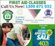 40% Off Senior and Childcare First Aid Melbourne Australia