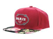 Paris Floral Snapback Baseball Cap