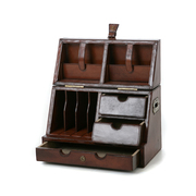 Buy Antique Looking Leather Stationery Box in Melbourne