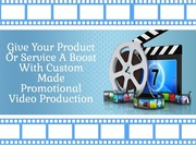 EASY MARKETING! Hire the Best Promotional Video Production!