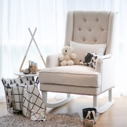 ALBA ROCKING CHAIR - OFF WHITE