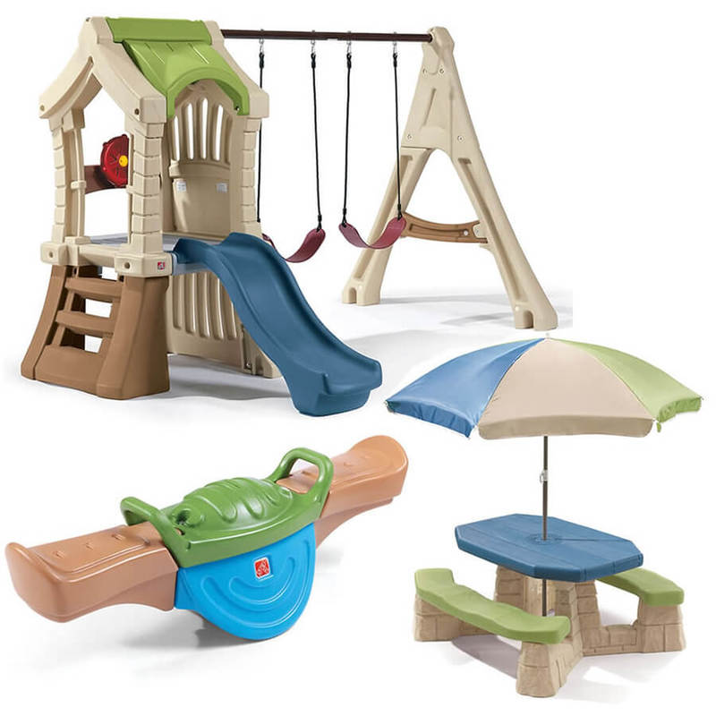 Kids Outdoor Plastic Swing Sets For Toddlers Available At