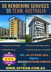 3D Rendering Services – 3D Team,  Australia