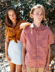 Luxurious Linen Unisex Shirts for Tweens and Teens